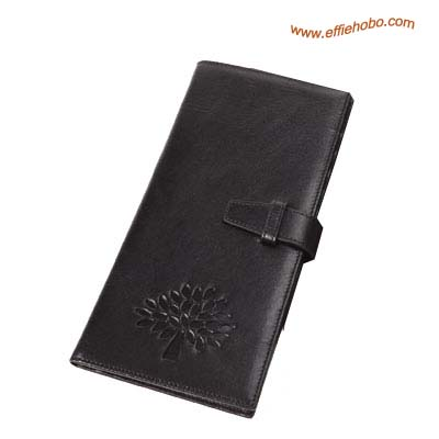 Mulberry Mens Passport Cover Wallet Black