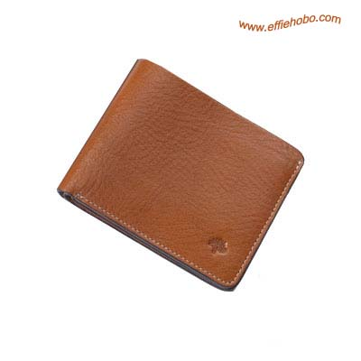 Mulberry Mens Wave Lined 3 Card Wallet Oak