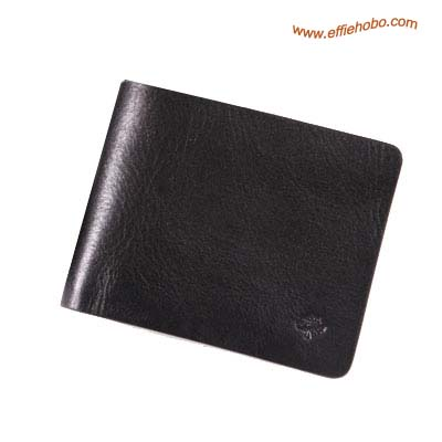 Mulberry Mens Mini Tri Fold Wallet Black