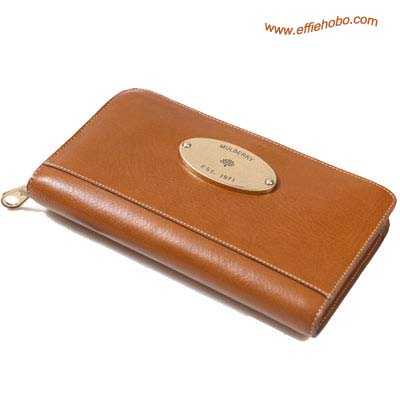Mulberry Men's Zip Around Wallet Oak