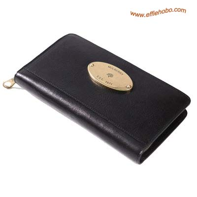 Mulberry Men's Oak Zip Around Wallet Black