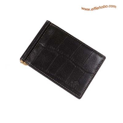 Mulberry Men's Money Clip Wallet Black