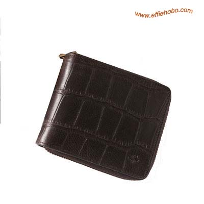 Mulberry Men's Small Zip Around Wallet Brown