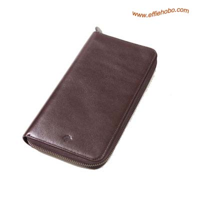 Mulberry Zip Around Travel Wallet Brown