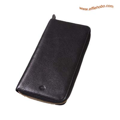 Mulberry Zip Around Travel Wallet Black