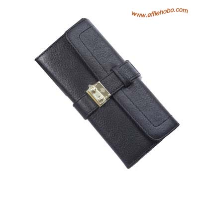 Mulberry Buckle Lock Purse Black