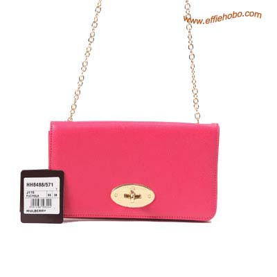 Mulberry Postman's Lock Chain Purse Red