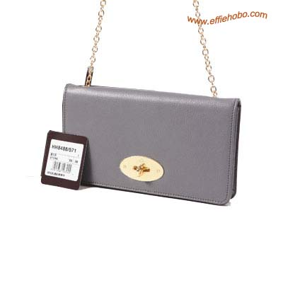 Mulberry Postman's Lock Chain Purse Gray
