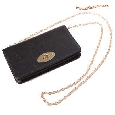 Mulberry Postman's Lock Chain Purse Black