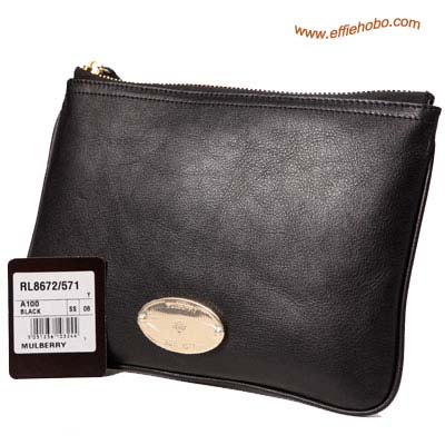 Mulberry Daria Clutch Bag Black
