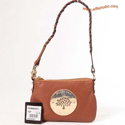 Mulberry Daria Wrist Clutch Bag Oak