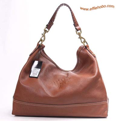 Mulberry Effie Hobo Drawstring Leather Tote Bag Oak