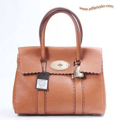 Mulberry Bayswater Trimming Leather Tote Bag Oak
