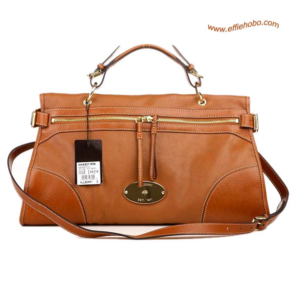 Mulberry Taylor Satchel Bag Oak