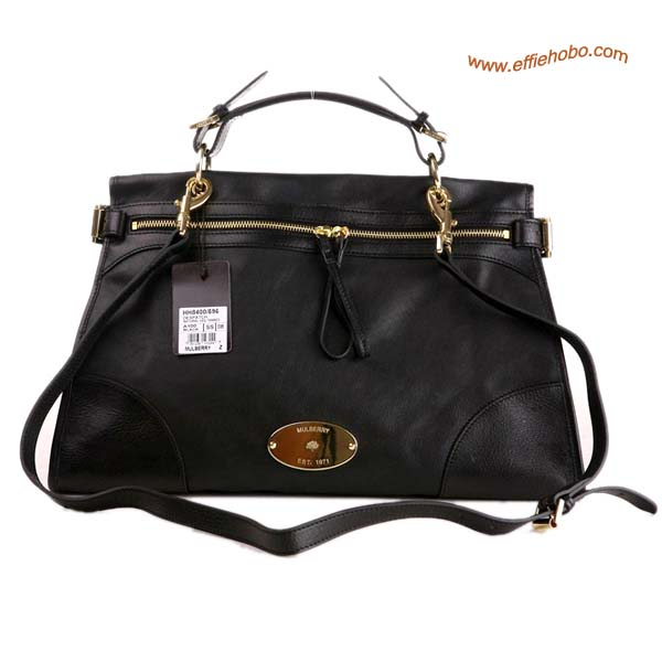 Mulberry Oversized Taylor Satchel Bag Black