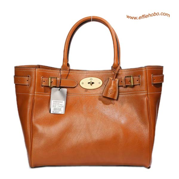 Mulberry Bayswater Leather Toter Bag Oak