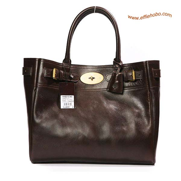 Mulberry Bayswater Leather Toter Bag Brown