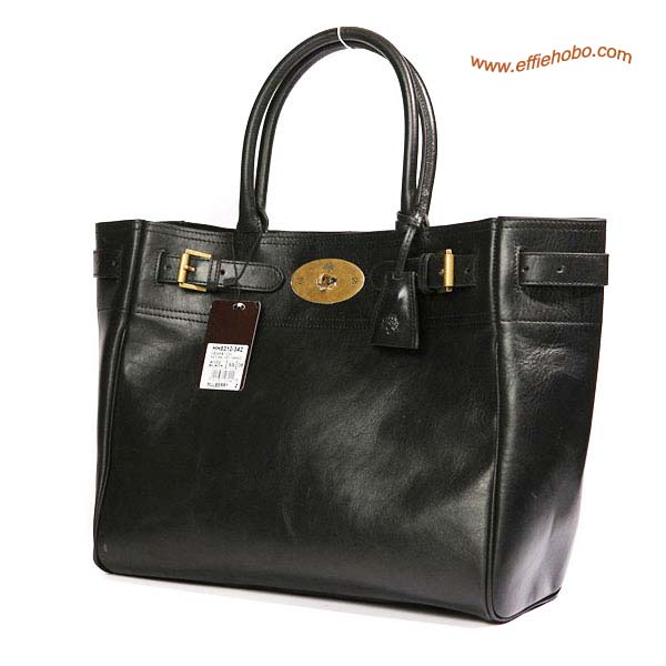 Mulberry Bayswater Leather Toter Bag Black