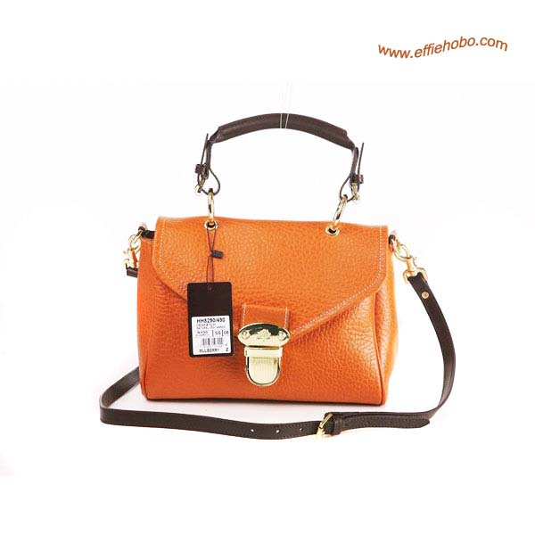 Mulberry Small Polly Push Lock Satchel Bag Orange