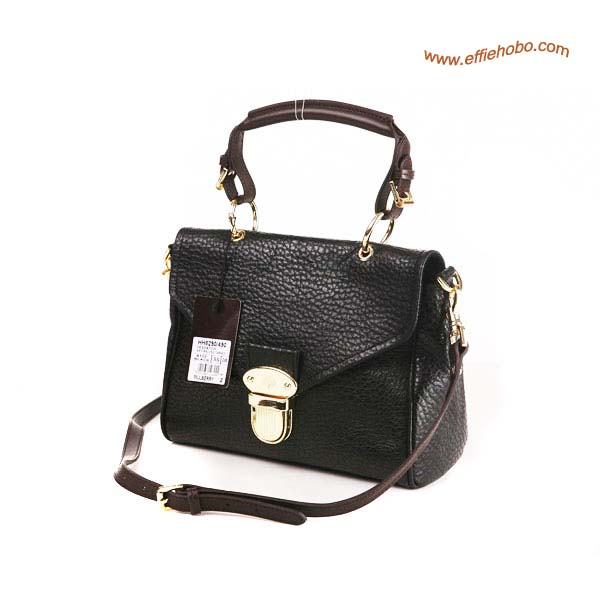 Mulberry Small Polly Push Lock Satchel Bag Black