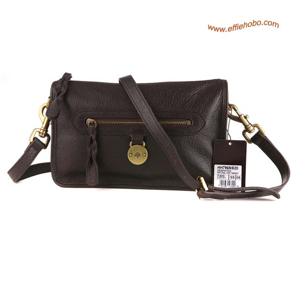 Mulberry Somerset Pebbled Leather Satchel Bag Brown