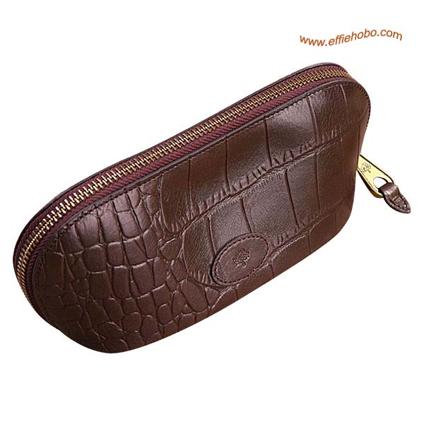 Mulberry Zip Around Purse Brown