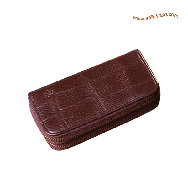 Mulberry Zip Around Key Holder & Coin Purse Brown