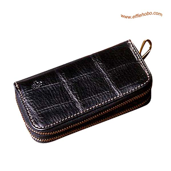 Mulberry Zip Around Key Holder & Coin Purse Black
