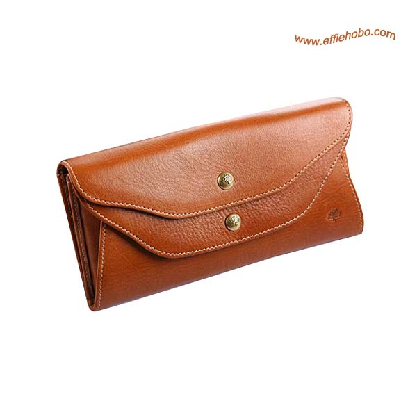 Mulberry Slim Popper Closure Purse Oak