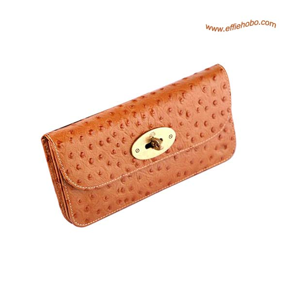 Mulberry Postman's Lock Contental Purse Oak