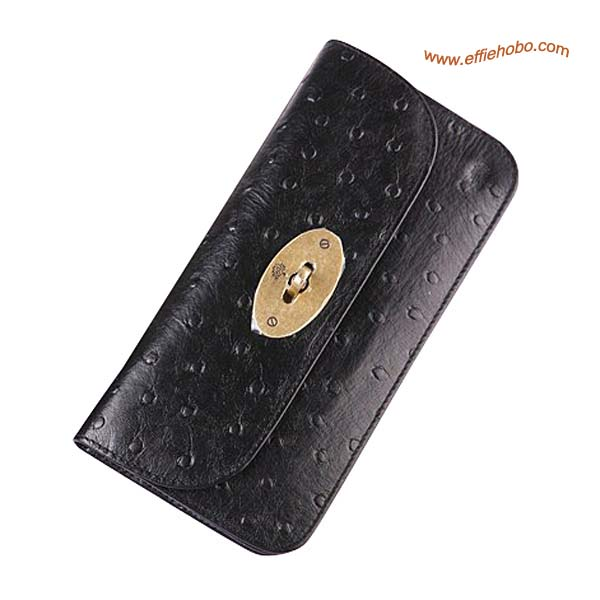 Mulberry Postman's Lock Contental Purse Black