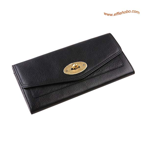 Mulberry Oversized Postman's Lock Contental Purse Black