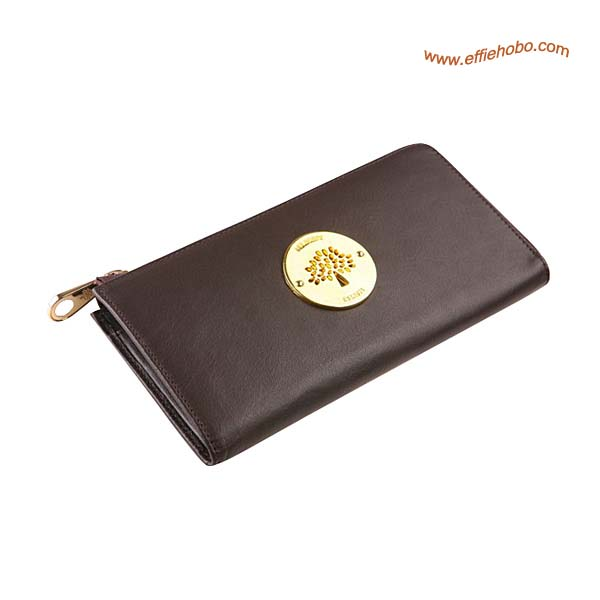 Mulberry Daria Slim Zip Purse Brown