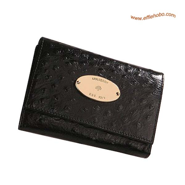 Mulberry French Purse Black