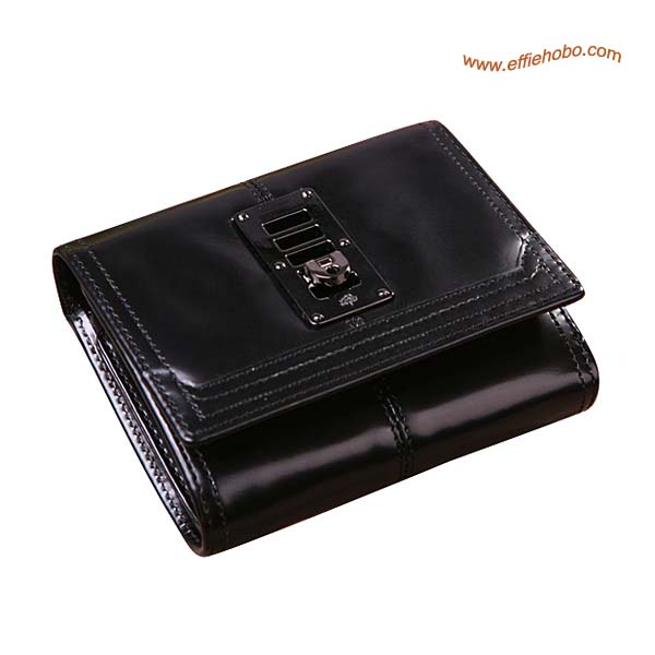 Mulberry Small Patent Leather Purse Black