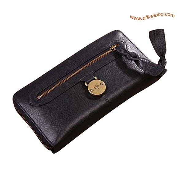 Mulberry Somerset Zip Around Purse Black