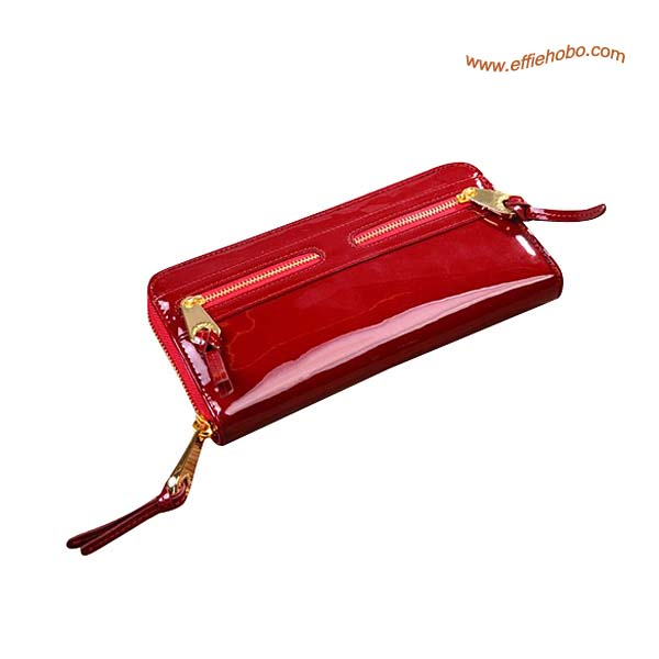 Mulberry Somerset Zip Around Patent Leather Purse Red