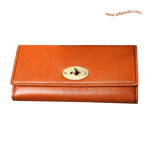 Mulberry Large Long Locked Purse Oak