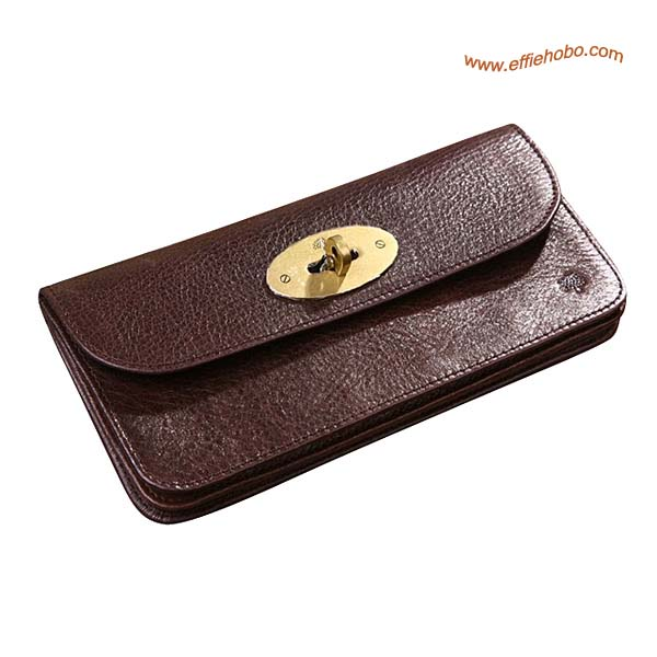 Mulberry Long Locked Purse Brown