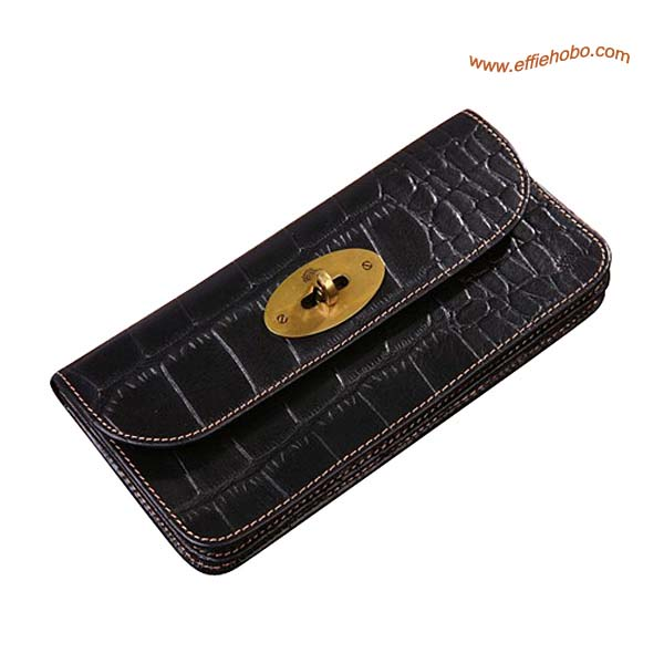 Mulberry Long Locked Purse Black