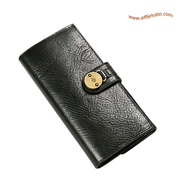 Mulberry Men's Long Wallet Black