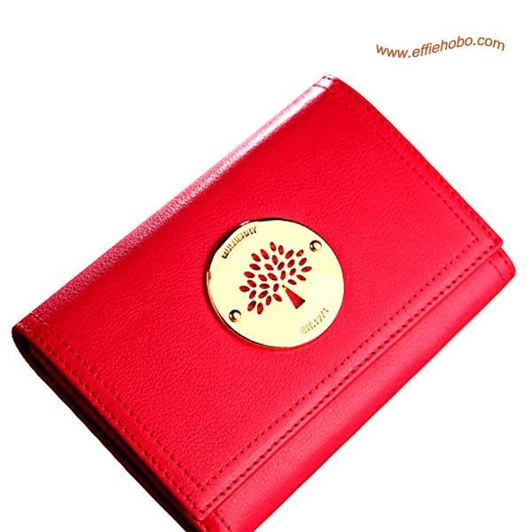 Mulberry Small Daria Continental Wallet Red