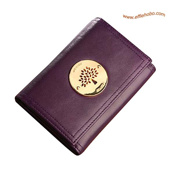 Mulberry Small Daria Continental Wallet Purple