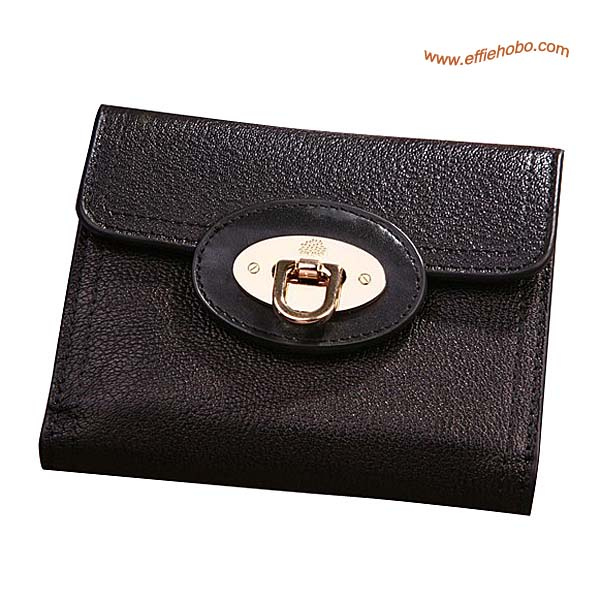 Mulberry Men's Small Locked Wallet Black
