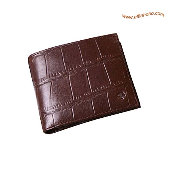 Mulberry Men's 8 Card Coin Wallet Brown