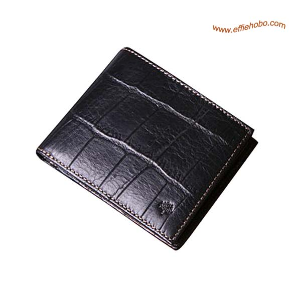 Mulberry Men's 8 Card Coin Wallet Black