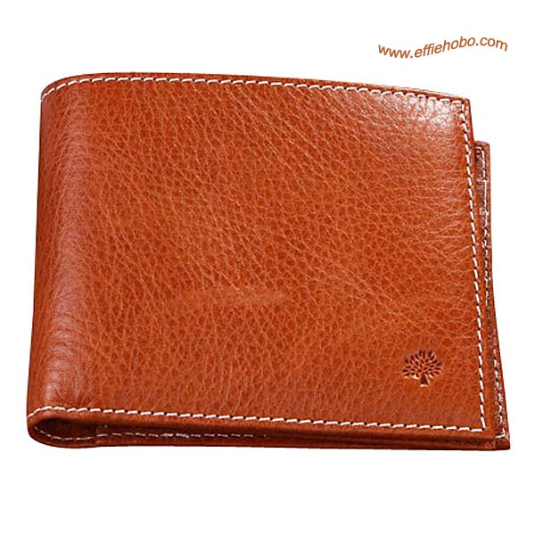 Mulberry Mens 8 Card Coin Wallet Oak