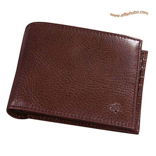 Mulberry Mens 8 Card Coin Wallet Brown