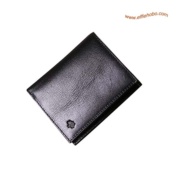 Mulberry Men's Mini Tri Fold Wallet Black