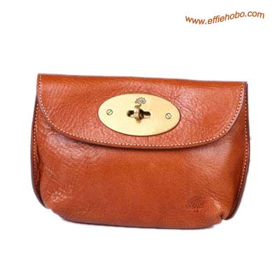 Mulberry Bayswater Leather Clutch Bag Oak